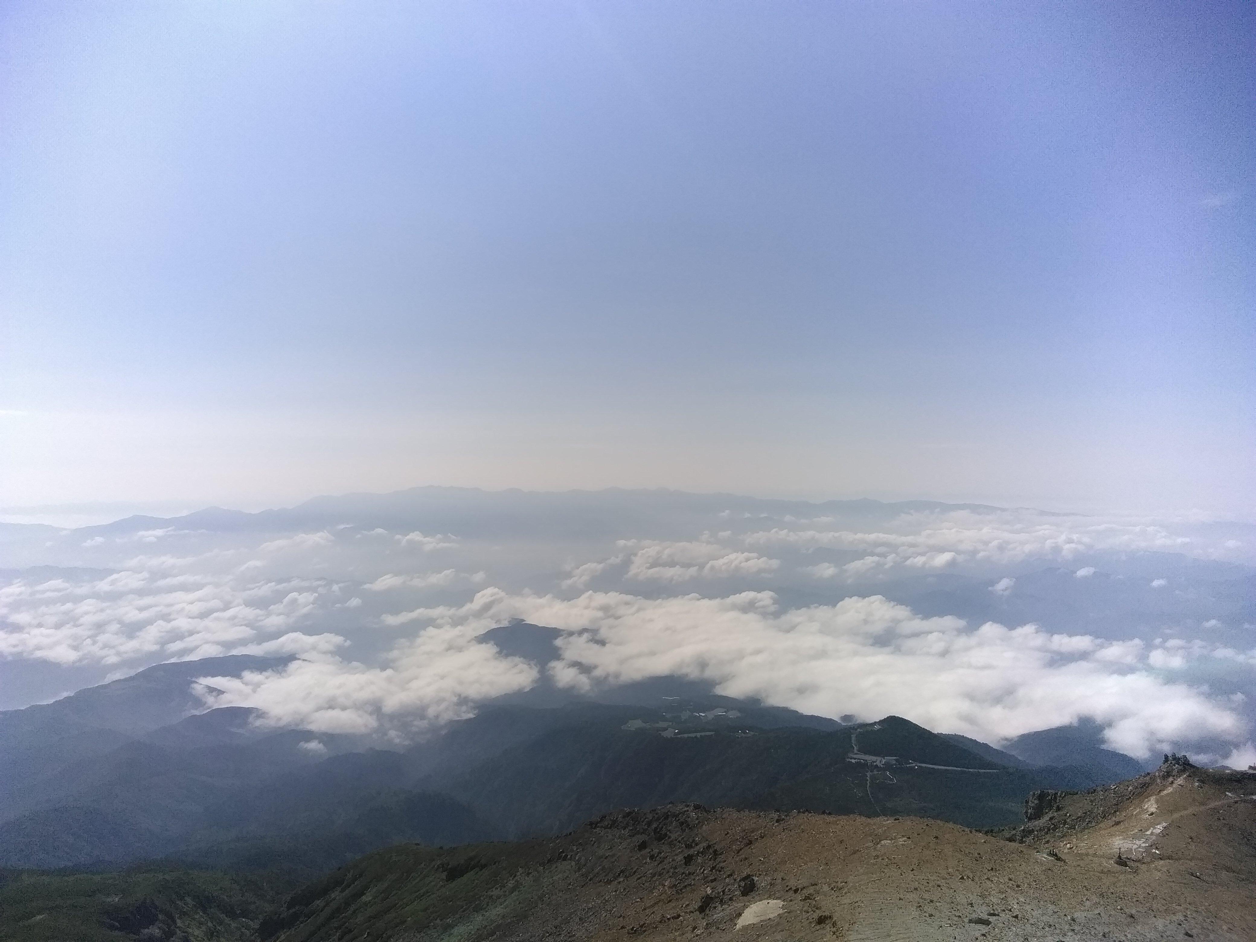 頂上からの景色
